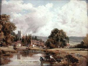 John Constable - Harnham Church, near Salisbury
