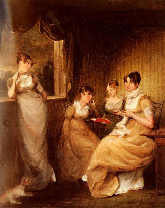 Ladies From The Family Of Mr William Mason Of Colchester by John Constable (1776-1837, United Kingdom) | Art Reproductions John Constable | WahooArt.com