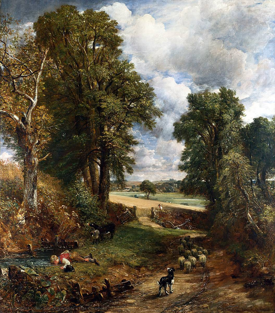 The Cornfield, Oil On Canvas by John Constable (1776-1837, United Kingdom)