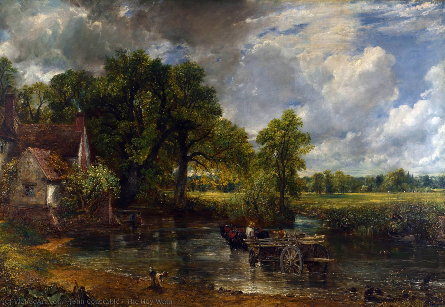 The Hay Wain, 1821 by John Constable (1776-1837, United Kingdom) | Museum Quality Reproductions | WahooArt.com