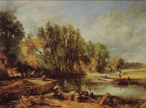 John Constable - The Young Waltonians - Stratford Mill