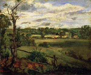 John Constable - View of Highgate from Hampstead Heath