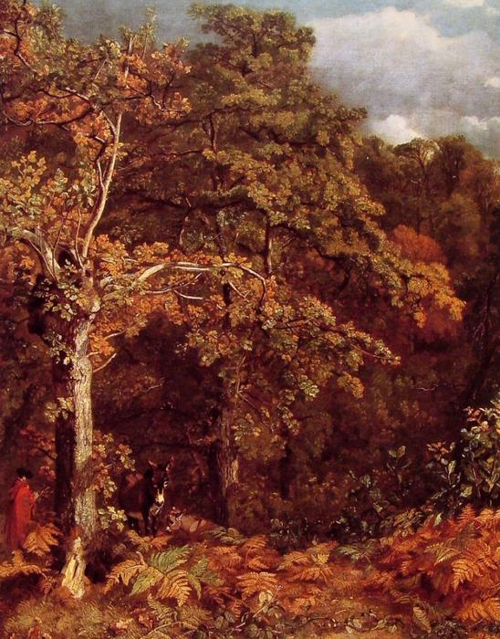 Wooded Landscape, Oil by John Constable (1776-1837, United Kingdom)