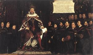 Hans Holbein The Younger - Henry VIII and the Barber Surgeons