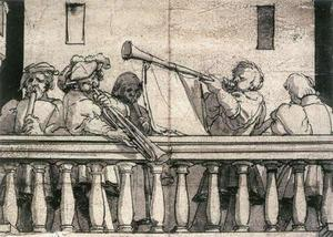 Hans Holbein The Younger - Musicians on a Balcony