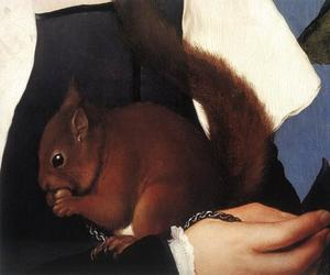Hans Holbein The Younger - Portrait of a Lady with a Squirrel and a Starling (detail)