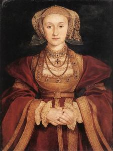 Hans Holbein The Younger - Portrait of Anne of Cleves