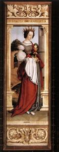 Hans Holbein The Younger - St. Barbara