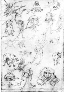 Hieronymus Bosch - Studies of Monsters3