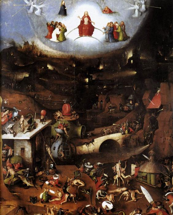 Triptych of Last Judgement (central panel), Oil by Hieronymus Bosch (1450-1516, Netherlands)