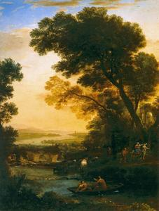 Claude Lorrain (Claude Gellée) - Ideal Landscape with the Flight into Egypt
