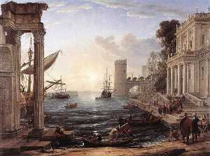 Claude Lorrain (Claude Gellée) - Seaport with the Embarkation of the Queen of Sheba