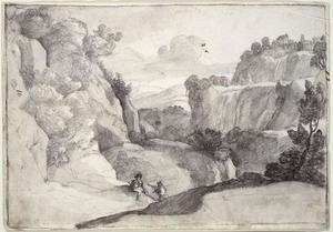 Claude Lorrain (Claude Gellée) - The Cascades of Tivoli