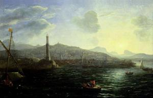 Claude Lorrain (Claude Gellée) - The Port of Genoa, Sea View