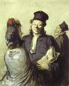 Honoré Daumier - A Lawyer with His Client
