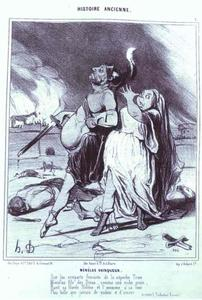 Honoré Daumier - Ancient History Series - Menelas the Victor