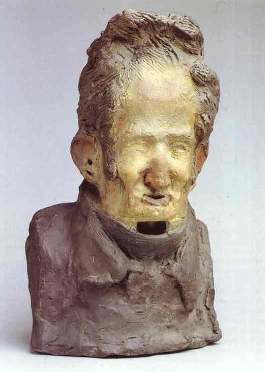 Charles-Léonard Gallois, Sculpture by Honoré Daumier (1808-1879, France)