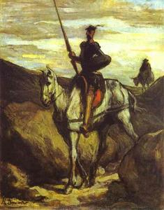 Honoré Daumier - Don Quixote and Sancho Pansa