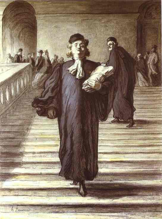 Grand Staircase of the Palace of Justice1 by Honoré Daumier (1808-1879, France) | WahooArt.com