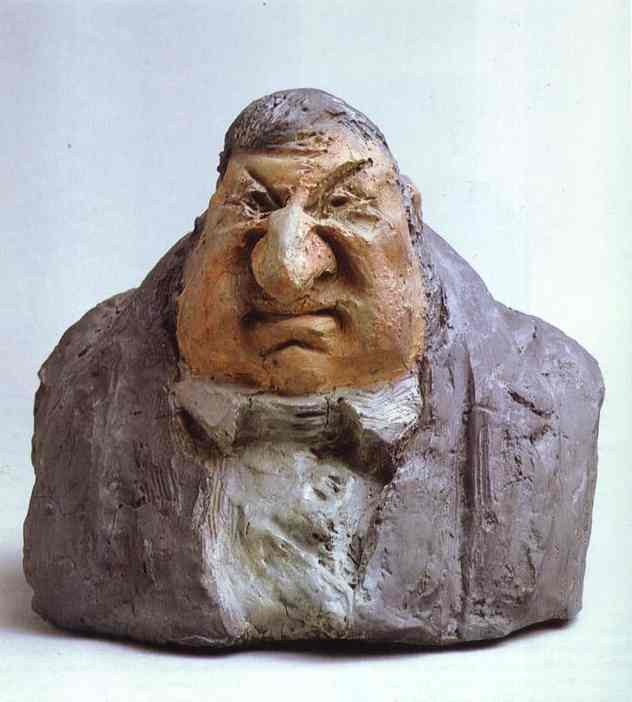 Jean-Marie Fruchard, Sculpture by Honoré Daumier (1808-1879, France)