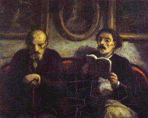 Honoré Daumier - Reading of a Poem