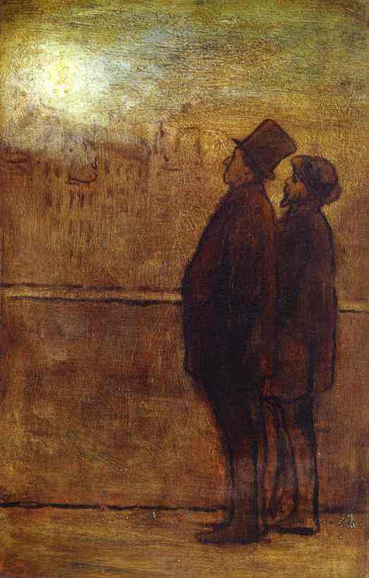 The Nocturnal Travellers by Honoré Daumier (1808-1879, France) | WahooArt.com