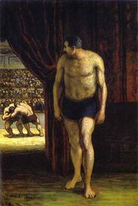 Honoré Daumier - The Wrestler