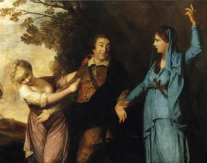 Joshua Reynolds - David Garrick Between Tragedy and Comedy