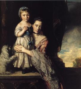 Joshua Reynolds - Georgiana, Countess Spencer, and Her Daughter
