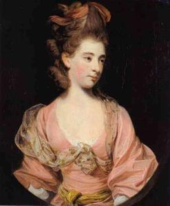 Joshua Reynolds - Lady in Pink, Said to be Mrs. Elizabeth Sheridan