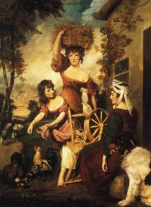 Joshua Reynolds - Mrs. and Miss Macklin, with Miss Potts