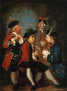 Joshua Reynolds - Sir Thomas Kennedy, James Caulfeild, Mr. Ward and Mr. Phelps
