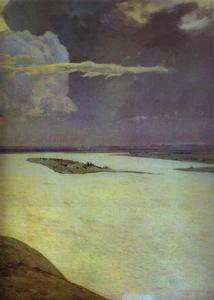 Isaak Ilyich Levitan - Above the Eternal Peace. Detail1