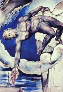 William Blake - Antaeus Setting Down Dante and Vergil