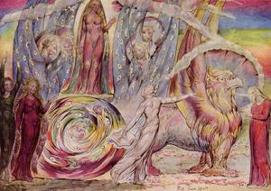 William Blake - Dante-s Divine Comedy, Beatrice Addressing Dante