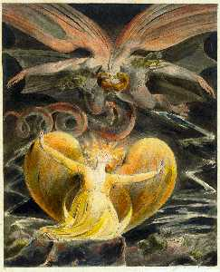 William Blake - The Great Red Dragon and the Woman Clothed with Sun