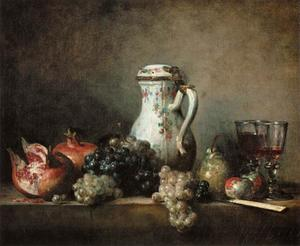 Jean-Baptiste Simeon Chardin - Grapes and Pomegranates