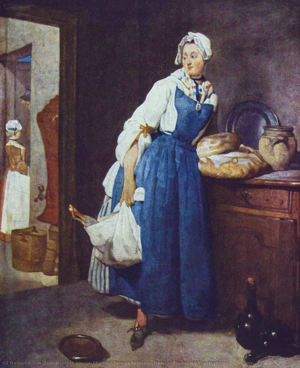 Buy Museum Art Reproductions | Servant Returning from the Market (La Pourvoyeuse) by Jean-Baptiste Simeon Chardin (1699-1779, France) | WahooArt.com