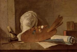 Jean-Baptiste Simeon Chardin - The Attributes of Painting and Sculpture