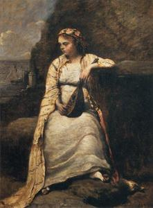 Jean Baptiste Camille Corot - Haydée, Young Woman in Greek Dress