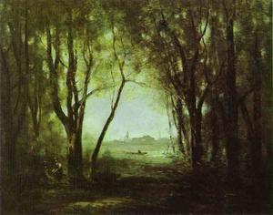 Jean Baptiste Camille Corot - Landscape with a Lake