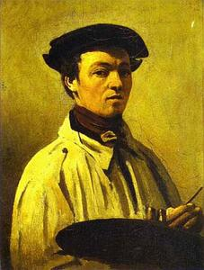 Jean Baptiste Camille Corot - Self-Portrait with Palette in Hand