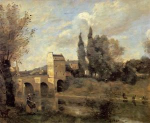 Jean Baptiste Camille Corot - The Bridge at Mantes