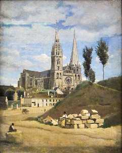 Jean Baptiste Camille Corot - The Cathedral of Chartres