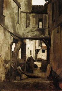 Jean Baptiste Camille Corot - The Tanneries of Mantes