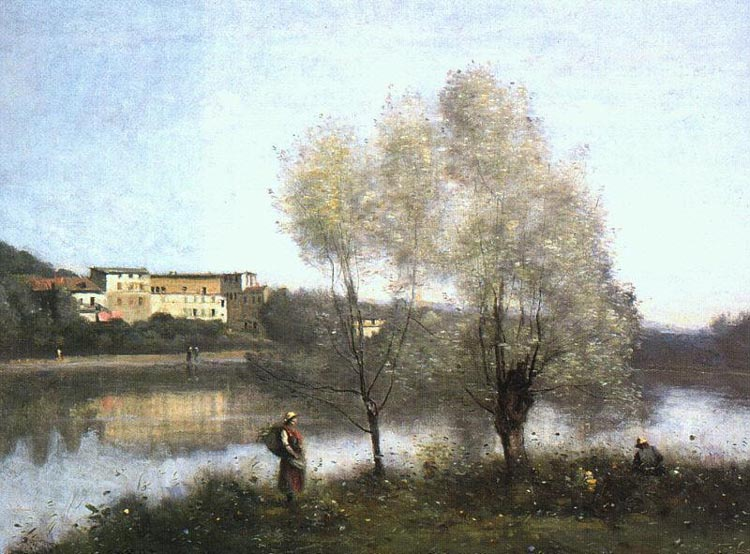 Ville d'Avray by Jean Baptiste Camille Corot (1796-1875, France) | Museum Quality Reproductions | WahooArt.com