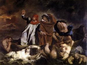 Order Famous Paintings Reproductions : The Barque of Dante by Eugène Delacroix (1798-1863, France) | WahooArt.com