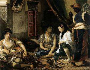 Order Museum Quality Reproductions : The Women of Algiers by Eugène Delacroix (1798-1863, France) | WahooArt.com