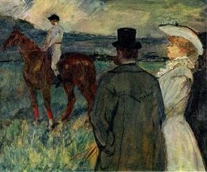 Henri De Toulouse Lautrec - At the Races