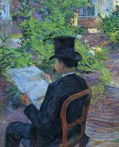 Henri De Toulouse Lautrec - Désiré Dihau (Reading a Newspaper in the Garden)